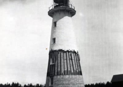 Shingling the Lightouse in 1958